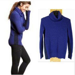 Athleta Merino Wool Turtleneck Sweater, Small, blu